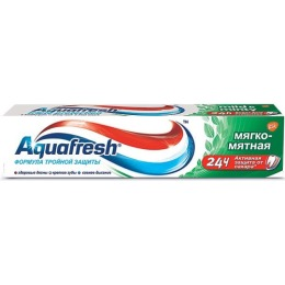 "Aquafresh зубная паста ""Мягко мятная"" 3+, 100 мл"