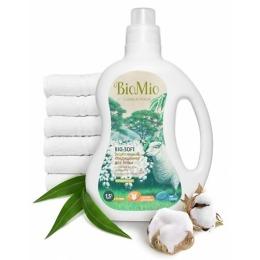"""BioMio кондиционер для белья """"Bio-Soft"""" с эфирным маслом эвкалипта и экстрактом хлопка 1,5 л"""