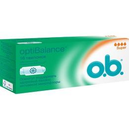 "o.b. тампоны ""optiBalance Super"", 16 шт"