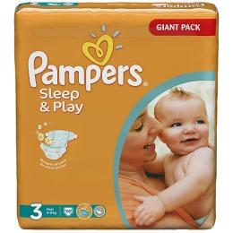 Pampers Sleep&Play 3 (4-9 кг)