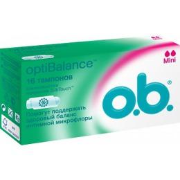 "o.b. тампоны ""optiBalance Mini"", 16 шт"