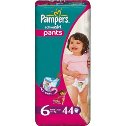 "Pampers подгузники-трусики ""Active Girl"" 16+ кг, размер 6"