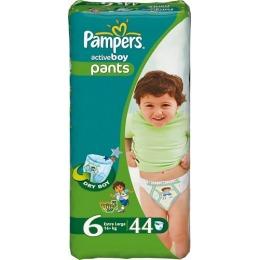 """Pampers подгузники-трусики """"Active Boy"""" 16+ кг, размер 6"""