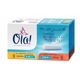 "Ola тампоны ""Multi-pack Normal+Super"", 16 шт"