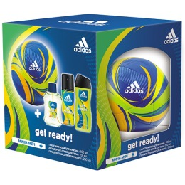 "Adidas набор мужской ""Get ready!"". Туалетная вода 100 мл + дезодорант-спрей 150 мл + гель для душа 250 мл + мини мяч"