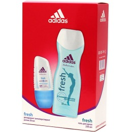 "Adidas набор женский ""Fresh"". Антиперспирант ролик 50 мл + гель для душа увлажняющий 250 мл"
