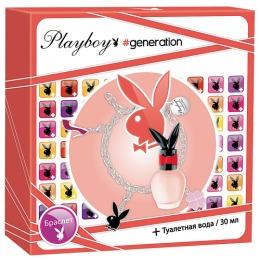 """PlayBoy набор женский """"Generation"""". Туалетная вода 30 мл + браслет"""