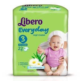 "Libero подгузники ""Every Day"" 4-9 кг, 22 шт"