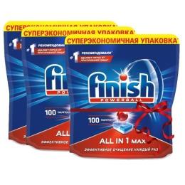 "finish таблетки для посудомоечных машин ""All in1. Max"", 100 шт х 3"