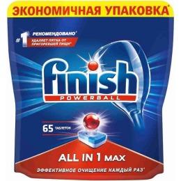 "finish таблетки для посудомоечных машин ""All in1. Max"", 65 шт"