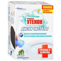 """Туалетный Утенок диски чистоты """"Гигиена и Белизна Эвкалипт"""""""