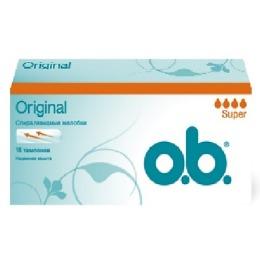 """o.b. тампоны """"Original"""" Super, 16 шт"""