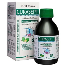 Curasept ополаскиватель хлоргексидин диглюкона ADS ASTRIGENT MOUTHWASH 020  0,20% с гамамелисом виргинским, 200 мл