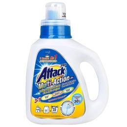 Attack гель для стирки Multi-Action концентрированный, бутылка, 880 мл