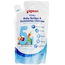 Pigeon средство для мытья посуды Baby Bottles & Accessories Cleanser, запасной блок, 450 мл