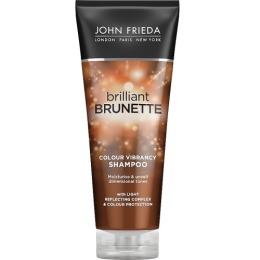 John Frieda увлажняющий шампунь для защиты цвета и сияния темных волос Brilliant Brunette COLOUR VIBRANCY, 250 мл