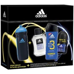 "Adidas набор мужской бальзам после бритья 100 мл + антиперспирант ""Sport Energy"" 50 мл+гель для душа ""Sport Energy"" 250 мл +бутылка"
