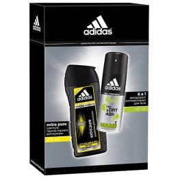 "Adidas набор мужской антиперспирант ""Cool & Dry"" спрей 6в1 150 мл+шампунь ""Extra Pure"" против перхоти 200 мл"