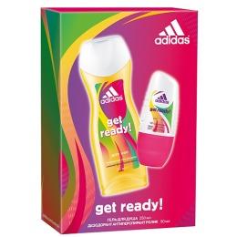 "Adidas набор женский ""Get ready!"" антиперспирант ролик 50 мл+гель для душа 250 мл"
