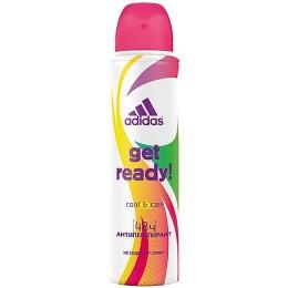 "Adidas антиперспирант ""Cool & Care Get ready!"" спрей для женщин"