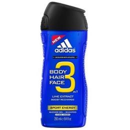 """Adidas гель-шампунь """"Sport Energy"""" 3 в 1 для душа и умывания мужской"""