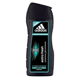 """Adidas шампунь """"Extra Fresh"""" освежающий с ментолом для склонных к жирности волос для мужчин"""