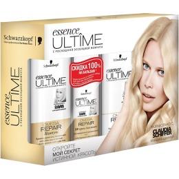 """Essence Ultime набор """"Omega repair"""" для поврежденных и истощенных волос шампунь 250 мл + BB-крем 250 мл + бальзам 250 мл"""