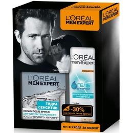 """L'Oreal набор """"Men expert"""" гель для бритья 200 мл + лосьон после бритья 100 мл"""
