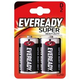 "Energizer батарейки ""Eveready Super Heavy Duty D"" солевые, 2 шт (блистер)"