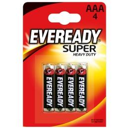 "Energizer батарейки ""Eveready Super Heavy Duty AAА"" солевые, 4 шт (блистер)"
