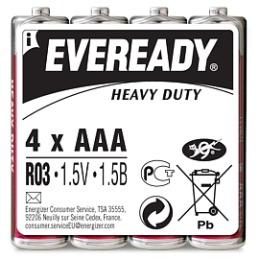 "Energizer батарейки ""Eveready"" AAA солевые, 4 шт (пленка)"