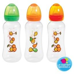 Мир детства бутылочка полипропиленовая с талией и  силиконовой соской, 225мл