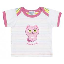 """Курносики футболка с коротким рукавом """"Розовая кошечка"""""""