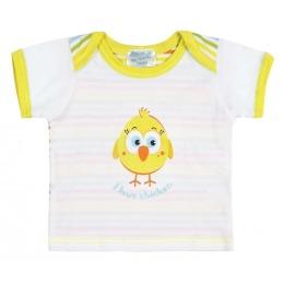"""Курносики футболка с коротким рукавом """"Желтый цыпленок"""""""