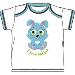 "Курносики футболка с коротким рукавом ""Голубой кролик"""