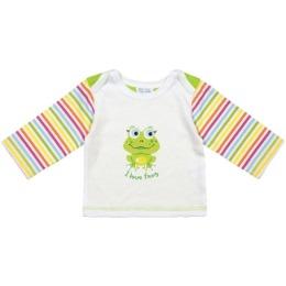 """Курносики футболка с длинным рукавом """"Зеленый лягушонок"""""""