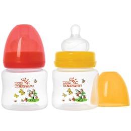 """Мир детства бутылочка для кормления """"Коровкины истории"""" ссиликоновой соской, широкое горло"""