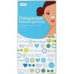 Cettua Полоски для носа очищающие, с экстрактом лесного ореха, 6 шт