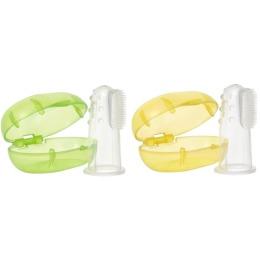 Мир детства зубная щетка  силиконовая 3+