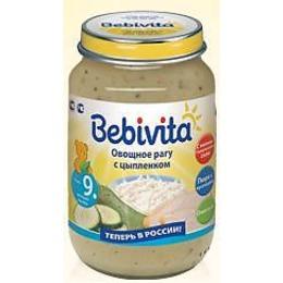 """Bebivita пюре """"Овощное рагу с цыпленком"""", 190 г"""