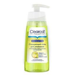Clearasil Очищающий гель с экстрактами лайма и лимона и витамином В3, 150 мл