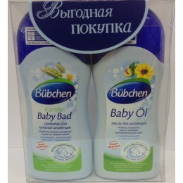Bubchen средство для купания младенцев, 200 мл + масло для младенцев, 200 мл