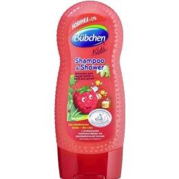 """Bubchen шампунь для волос и тела """"Малина"""", 230 мл"""