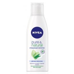 "Nivea очищающее молочко ""Pure&Natural"", 200 мл"