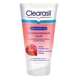 Clearasil Отшелушивающий скраб с экстрактами клюквы и малины и витамином В3, 150 мл