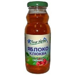 """Fleur Alpine сок """"Яблочно-клюквенный"""", 200 г"""