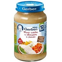 """Gerber пюре """"Филе сайды с овощами"""", 200 г"""