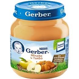 """Gerber пюре """"Яблоко, тыква"""" с 5 месяцев"""
