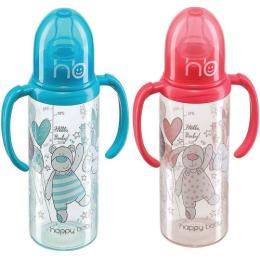 Happy baby бутылочка с двумя силиконовыми сосками, 250 мл