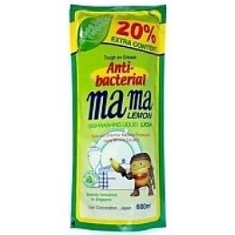 """Mama Lemon гель для мытья посуды и детских принадлежностей """"Зеленый чай"""" концентрированный, сменная упаковка, 600 мл"""